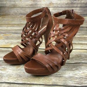 Zara Basic Strappy High Heels Sandals Size 37